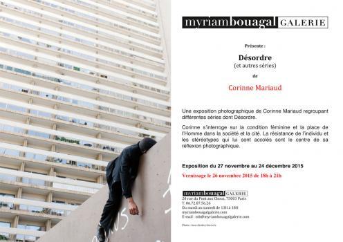 décembre 2015 Galerie Myriam Bouagal , Paris